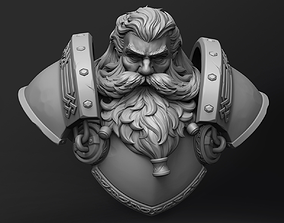 Stylized Dwarf Bust Statue 3D printable model fantasy