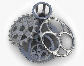 3D Steampunk Gears Set 06