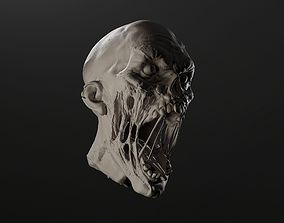 Zombie Head Sculpt 1 3D model
