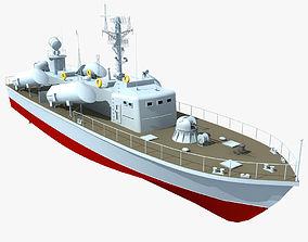 3D model Russian OSA Class Missile Boat