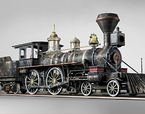 3D model American Steam Locomotive Engine