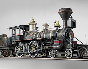 American Steam Locomotive Engine 3D model