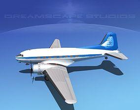 3D model Douglas DC-3 Baltimore Clipper