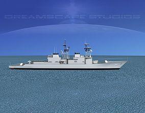 Spruance Class DD997 USS Hayler 3D