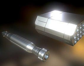 Anti Air Rocket Battery High Poly 3D model