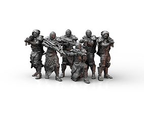 Sci Fi Infantry Squad 3D printable model
