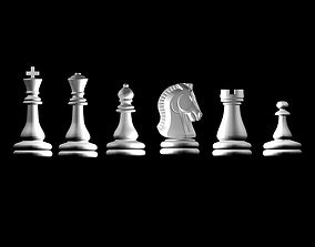 wood Chess 3d model for 3d printers