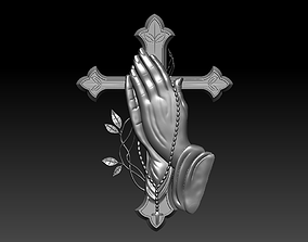 Prayer Cross 3D print model