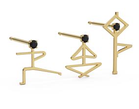Earrings in the form of men 3D print model