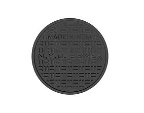 Drink coaster -NYC manhole cover 3D print model