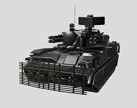 3D model 9K22 Tunguska Russian Air Defense System