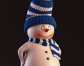 hat snowman 3D