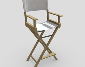 3D asset realtime Director Chair
