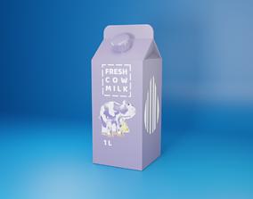 Milk pack 3D asset
