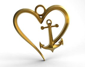 Heart anchor 3D printable model