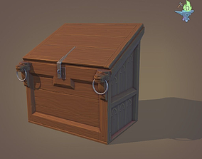 Gothic Desk Chest 3D model