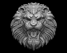 3D printable model Lion relief for pendant or wall