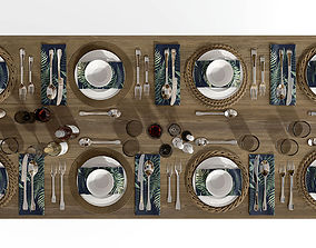 dining room set 3D dishes