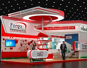 3D 9x4Mtr Two Side Open Exhibition Stand