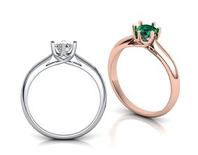 Engagement Ring jewelry 3D printable model