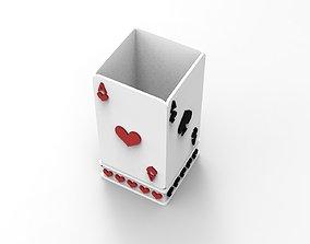 3D print model Card Box Pencil or Pen Container