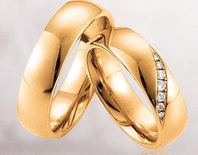 3D printable model Wedding rings 213