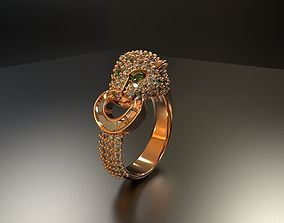jewellery tiger ring 3D printable model