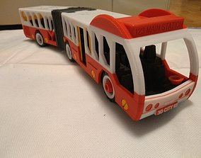 Articulated city bus toy - the long version - fully 3d 1