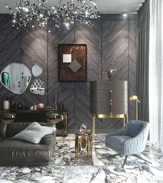 3d render furniture in luxury interior