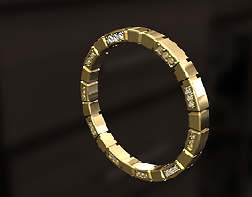 3D printable model Ring with shapes