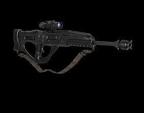 Sniper rifle Sci-Fi 3D model