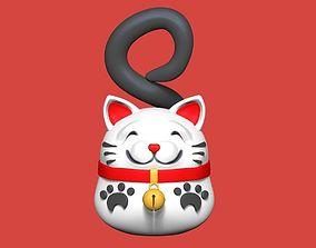 manga Cat pendant 3D printable model