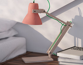 3D model contemporary Terracotta table lamp