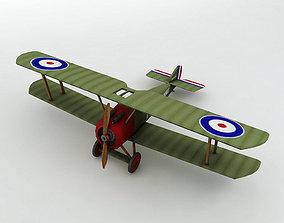 3D asset Sopwith Camel Biplane