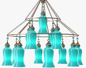 3D model Canopy Designs Sara Glass Chandelier