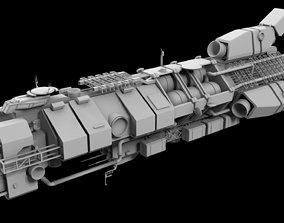 3D Helios civilian frigate