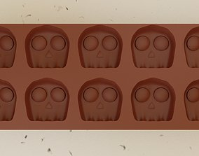 Skull Chocolate Mold 3D printable model bakery