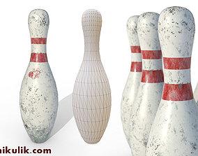 PBR Old Bowling Pin 3D asset