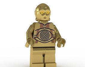 LEGO Minfigure C3PO 3D model