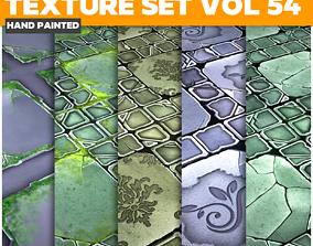 3D asset Tiles Vol 54 - Game PBR Textures