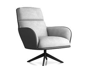 Magnificent 3D Stripes York Lounge Chair By Modloft Cgtrader Machost Co Dining Chair Design Ideas Machostcouk