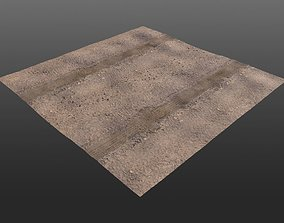 3D asset Low-Poly Dirt Roads for Game Development