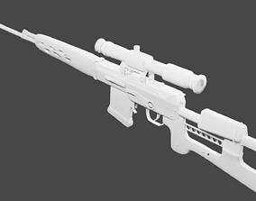 3D model Dragunov sniper rifle russian