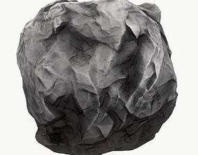 Meteor Asteroid Rock 4K 3D model game-ready