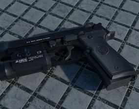 3D asset VR / AR ready Beretta M9A1