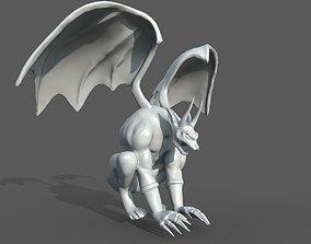 3D asset low-poly Gargoyle
