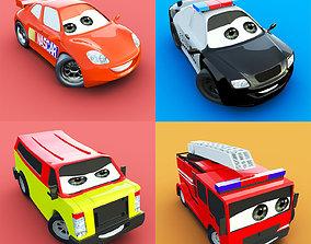 CARTOON CAR COLLECTION 3D model