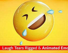 3D model Laughing Tears Animated Emoji