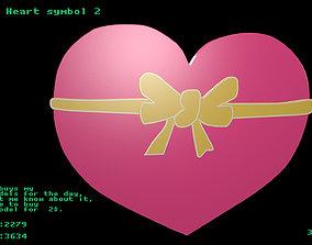 Low poly Heart symbol 2 3D asset