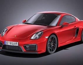 Porsche Cayman GTS 2016 VRAY 3D model